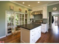 Kitchen wall colour? Hmmmm. We have dark cabinets and lighter countertops though...