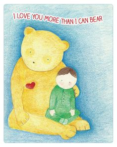 I Love You More Than I Can Bear   Child's Room or by PerryWiggles