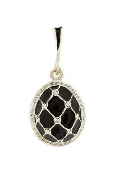 ⭐️⭐️ New on our web site ⭐️⭐️ Black egg pendant with classy crytals