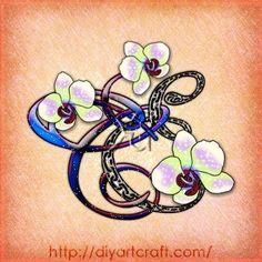 orchid tattoo #monogram CE fantasy tattoo   tattoos picture orchid tattoo Monogram Tattoo, Orchid Tattoo, Fantasy Tattoos, Cool Tats, Breast Cancer Awareness, Picture Tattoos, Girly Girl, I Tattoo, Orchids