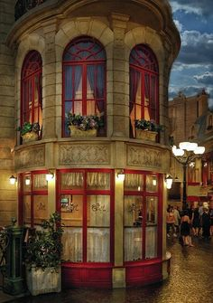 Cafe, Paris, France....Love the building.