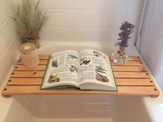 Wooden bathtub caddy doubles as a mat. Keep all your bath accessories within reach so you can rejuvenate and relax. Conveniently doubles as a Wooden Bathtub, Bathtub Mat, Bathtub Caddy, Bath Accessories, Home Decor Accessories, Teak Shower Mat, Muji Style, Diy Garden Decor, Amazing Gardens