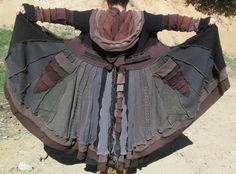 Steampunk Gipsy Upcycled Sweater Pixie Coat. $320.00, via Etsy.
