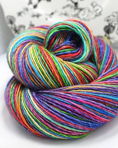 Handspun Yarn Gently Thick and Thin Single by SheepingBeauty, $48.00
