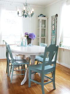 Colorful Table And Chairs House Tour Cottage Style With Diy Glamour  Cottage Style .