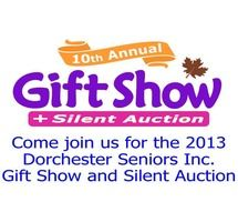 10th Annual Gift Show and Silent Auction!  The Silent Auction will start Wednesday, October 16th and run thru 3PM on Saturday, October 19, 2013.  More than 300 items are up for bid!