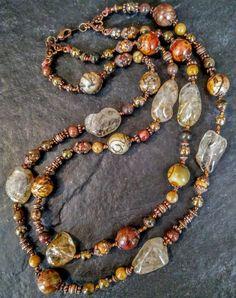 Precious gemstone Grayblack  Picasso necklace pendant choker Holiday Seasonal her Gifts