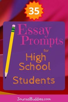As they answer these 35 new essay prompts for high school students, teens should plan to write personal essays of about 500-1000 words in response. Covering topics like communication, rites of passage, ethical consumption, and more, students will have the chance to explore issues that they and their peers face each day—all within the safe confines of the page. And most importantly, they'll be able to reflect, grow, and prepare for the long road ahead all at the same time. via…