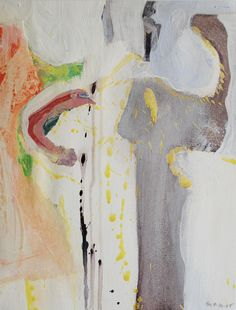 Selma Moskowitz Abstract Expressionist Painting on Chairish.com