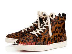 34b53a11207 Christian Louboutin Rantus Orlato Flat Chaussures Officiel Prix Pas Cher  Pour Homme Brun Noir 3170774BW1F -