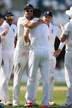 The Celebration Of Jimmys Record Breaking Wicket I Love This Image All The Love Cricketcelebration