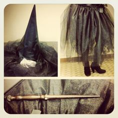 DIY tulle witch costume