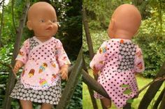Baby Born Freebook KATRIN dress tunic for dolls: KATRIN will sew quickly and easily . Diy Projects For Kids, Diy For Kids, Baby Boy Fashion, Fashion Kids, Clothes Crafts, Doll Clothes, Baby Born Kleidung, Manners For Kids, Mature Fashion