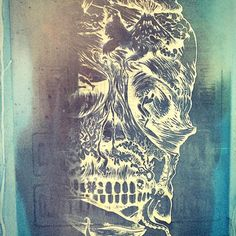 pantalla serigrafia skull&surf