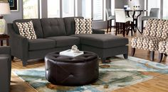 Cindy Crawford Madison Place Indigo Sectional Living Room at Rooms To Go Rooms To Go Furniture, Furniture Upholstery, Furniture Sets, Home Furniture, Rustic Furniture, Upholstery Tacks, Upholstery Cushions, Upholstery Cleaning, Furniture Cleaning