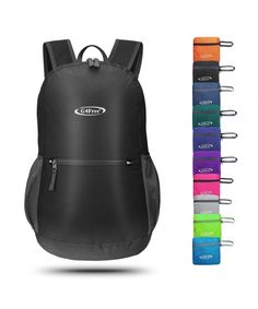 14462b6759 Lightweight Packable Backpack Resistant - Black - CE186O8QD6W