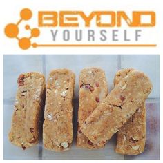 Almond Cookie Dough Protein bars from @rosie_trudelle!  Ingredients: 1/2 cup oat flour 2 scoops Beyond Yourself Whey Isolate Cookie Dough Ice Cream 1/4 cup coconut flour 1 tsp vanilla 1/3 cup natural peanut butter 1/4 cup soy or almond milk  2 tbsp plain greek yogurt 3 tbsp roasted almonds  Step 1: Mix coconut flour, oat flour, and protein in a bowl Step 2: Add the vanilla and peanut butter. Mix well. Add milk and yogurt. When the mixture becomes thick, chop roasted almonds and add to the…