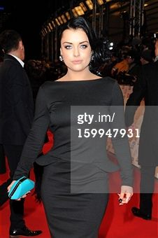 Shona McGarty wearing a Henrietta Ludgate dress on the red carpet.