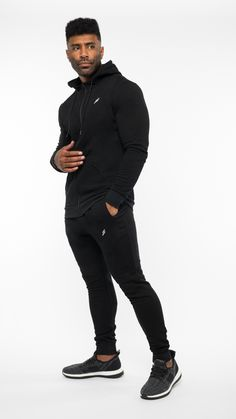 Black Gym King Basis Nylon Poly Tracksuit Set
