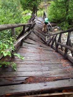 Broken bridge over Trout Creek Near Methow River in Okanogan County Washington State, Trout, Garden Bridge, Senior Pictures, Picture Ideas, My Dream, Past, Weight Loss, Outdoor Structures