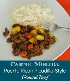 Okay, so some of you might know about my secret project regarding making Puerto Rican cooking tutorials for gringas. Well one of my friends (& Bloggin' Mamas Central Florida Chapter Manager) Melanie Edwards just posted this Puerto Rican recipe for Carne Molida Recipe for Ground Beef and I just had to share.