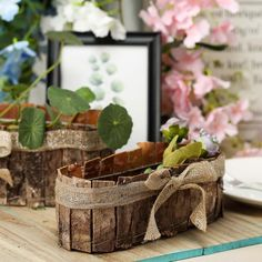 Shop for Natural Wooden and Rustic Decoration Supplies and Craft Accessories from efavormart. Sale on Bark and Twine Baskets, Planters, Pots, Stands, and Candle Holders. Large Planter Boxes, Large Planters, Flower Planters, Planter Box Centerpiece, Table Centerpieces, Rustic Planters, Spring Wedding Decorations, Decorating Supplies, Rustic Flowers