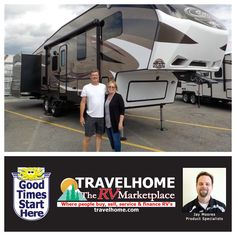 Congratulations to Gordon & Deborah on the purchase of their Cougar 301SAB #FifthWheel from Jay! #CougarRV #Travel #Travelhome #Vacation #camping #Summer