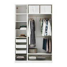 PAX Garderobekast met inrichting - zachtsluitende scharnier - IKEA