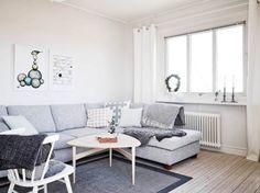 Gris, blanco y madera ... combinación imbatible !!! ... cada vez me gusta más los ambientes escandinavos !!!