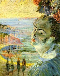 Artist and Studio, Salvador Dali, self-portrait