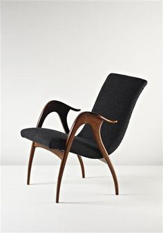 t-mueninkul:    Walnut and Leather Armchair by Malatesta and Mason, c1960,