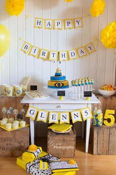 Minion Sweet Table von G wie... zum 5. Geburtstag von Glenn. Toll umgesetzt mit vielen Produkten von PinkFisch. WE LOOOOVE!!!!
