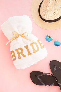 DIY Personalized - Bride Beach Towel for you Bachelorette Party!