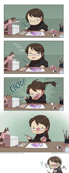 Mini Comics :: Face Painting Ca m arrive assez soivent XDDD