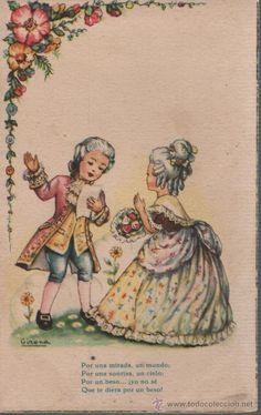 postal ediciones arte -MARCA IKON-   ARTIGAS  RIMAS DE G,A. BECQUER SERIE 1014