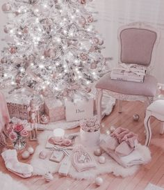 Heres More Than 5 Beautiful Gifts For Under 100 at Kohls Rose Gold Christmas Decorations, Pink Christmas Tree, Christmas Bedroom, Shabby Chic Christmas, Elegant Christmas, Noel Christmas, Christmas Mantles, Victorian Christmas, Vintage Christmas