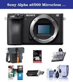 Sony Alpha a6500 Mirrorless Digital Camera Body - Bundle With 16GB SDHC U3 Card, Holster Case, Cleaning Kit, Memory Wallet, Card Reader, Software Package. New Sony flagship APS-C sensor camera, the a6500 (model ILCE-6500). As the latest addition to Sony's lineup of award winning mirrorless cameras, the new a6500 shares the same unrivaled 4D FOCUS system as the a6300 camera, which can lock focus on a subject in as little as 0.05 seconds, the world's fastest AF acquisition time. Also shared...