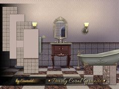 The Sims Resource: Pearly Coral Granite by emerald • Sims 4 Downloads