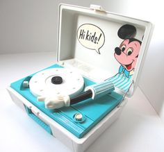 Vintage Mickey Mouse Record Player - It wasn't vintage when I used it as a kid.