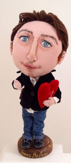 James McAvoy❤️  Such an adorable handmade doll