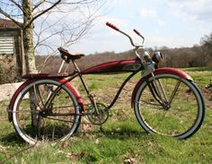 1950 Huffman 'Dayton' Dial-Your-Ride Old Bikes, Vintage Bicycles, Timeless Beauty, Good Old, Wheels, Beautiful, Cars, Tricycle, Bicycles