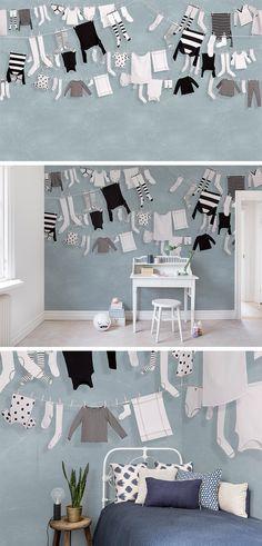 WALLPAPER   WALL MURAL   INTERIOR DESIGN   KIDS' ROOM   NURSERY   WALLPAPER FOR KIDS   INSPIRATION   PLAYFUL   CHILDREN'S ROOM