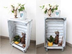 DIY, skrzynka jako stolik, box after the fruit,