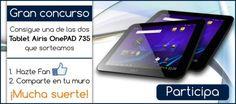 """CONCURSO """"Consigue una tablet Airis OnePad 735"""""""