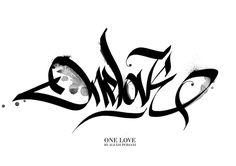 Black & white Calligraphy by Alexis Persani