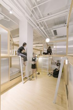 Cao Pu, Zhang Zheming ·  Together Hostel——indoor camping space for youth