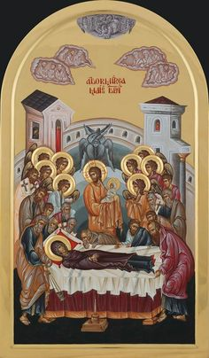 Dormition of our most holy Queen, the Theotokos and Ever-Virgin Mary. preceded by the Dormition Fast (Spasivka) Aug. Byzantine Icons, Byzantine Art, Religious Icons, Religious Art, Christ The King, Blessed Mother Mary, Catholic Art, Orthodox Icons, I Icon