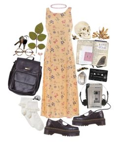 """^^^vvv^^^vvv^^^"" by hippierose ❤ liked on Polyvore featuring Topshop, John Lewis, Dr. Martens, American Apparel, Floyd and J.Crew"