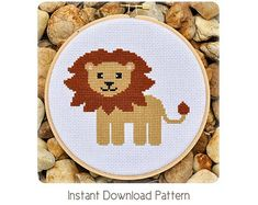 Lion Cross Stitch Pattern Instant Download door Sewingseed