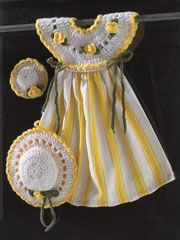 Yellow Rose Kitchen Set Pattern Pack  When I first saw this, I thought it was a little girls outfit.
